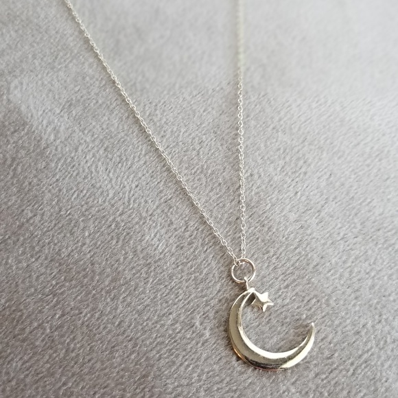 Macy's Jewelry - Sterling silver crescent moon and star necklace